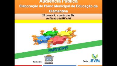 Ilustração da notícia: Audiência Pública para elaboração do Plano Municipal de Educação na próxima quarta-feira