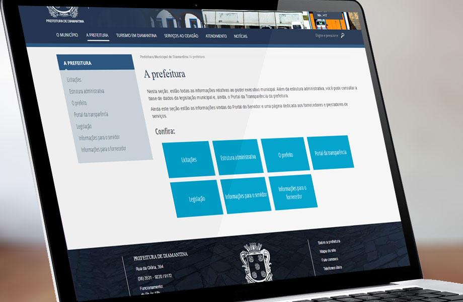 Imagem do novo site