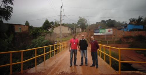 Ilustração da notícia: Ponte que dá acesso ao Bairro Maria Orminda está concluída