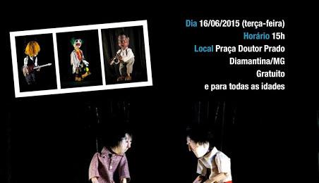Ilustração da notícia: Diamantina recebe espetáculo de Marionetes