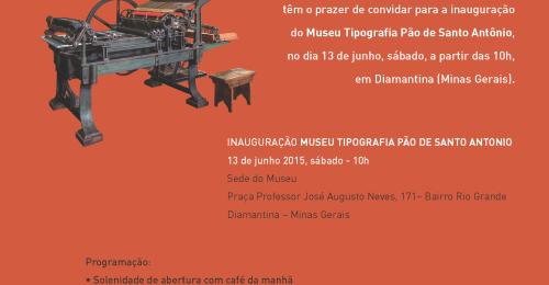Ilustração da notícia: Museu de tipografia registra o passado e o futuro diamantinense