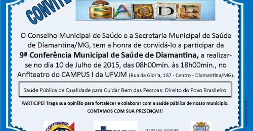 Ilustração da notícia: Diamantina realiza Conferência Municipal de Saúde no dia 10 de julho