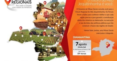 Ilustração da notícia: Governador instala Fórum Regional em Diamantina