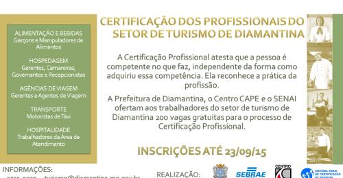 Ilustração da notícia: Abertas as Inscrições para a Certificação dos Profissionais do Setor de Turismo