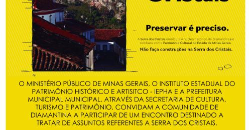 Ilustração da notícia: Convite – Encontro paratratar de assuntos referente a Serra dos Cristais