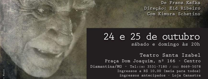 """Ilustração da notícia: Espetáculo """"Relatório para uma Academia"""" chega a Diamantina"""