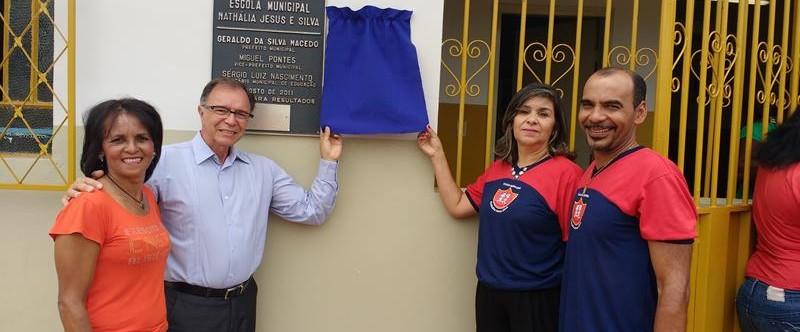 Ilustração da notícia: Após reforma, Escola Municipal Nathália Jesus Silva é entregue à comunidade