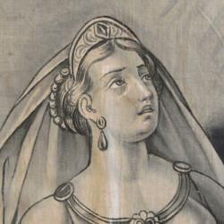 Imagem parcial da Sibila Ciméria guardada na Sé Catedral de Diamantina