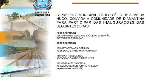 Ilustração da notícia: Convite Inaugurações – 29 e 30 de Dezembro