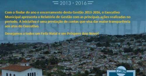 Ilustração da notícia: Relatório de Gestão 2013/2016