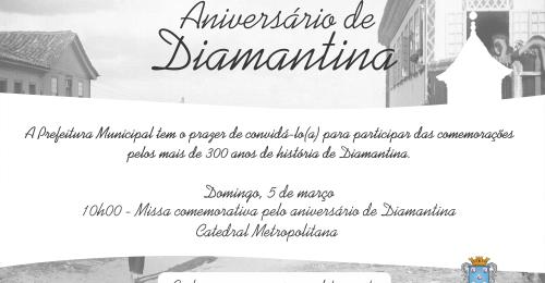 Ilustração da notícia: Convite – Aniversário de Diamantina