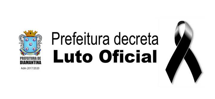 Ilustração da notícia: Prefeitura Municipal de Diamantina Decreta Luto Oficial