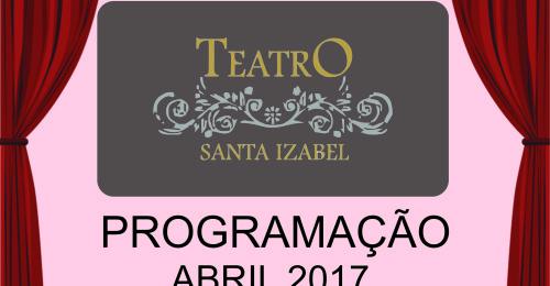 Ilustração da notícia: Teatro Santa Izabel lança a PROGRAMAÇÃO ABRIL 2017