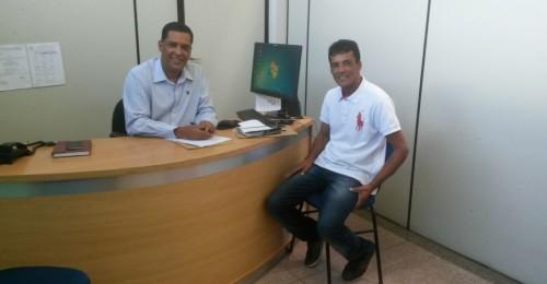 Ilustração da notícia: Secretário Municipal de Saúde recebe visita do Vereador Marcos Juliano (Kim)