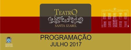 Teatro Santa Izabel apresenta calendário de atrações para Julho de 2017
