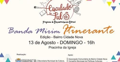 Ilustração da notícia: Programa Circuladô de Fulô chega ao Bairro Cidade Nova!