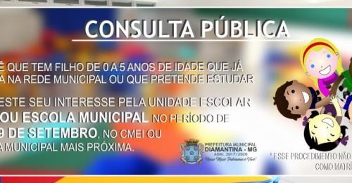 Ilustração da notícia: SECRETARIA MUNICIPAL DE EDUCAÇÃO (SME) REALIZA CONSULTA PÚBLICA