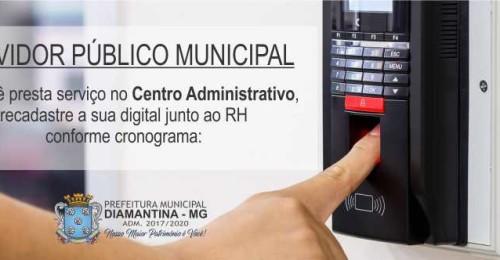 Ilustração da notícia: Recadastramento Biométrico Servidores da Prefeitura Municipal de Diamantina