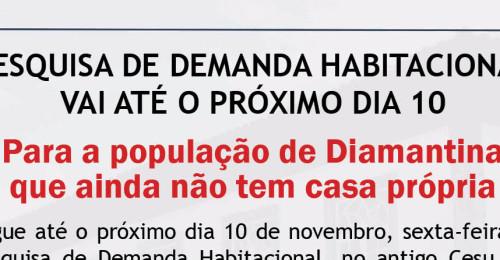 Ilustração da notícia: PESQUISA DE DEMANDA HABITACIONAL  VAI ATÉ O PRÓXIMO DIA 10