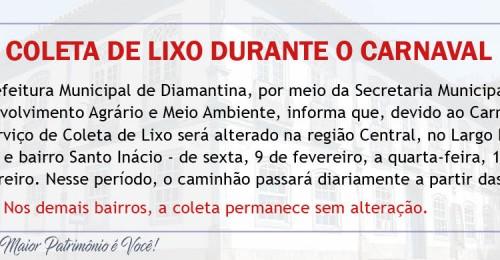 Ilustração da notícia: COLETA DE LIXO DURANTE O CARNAVAL