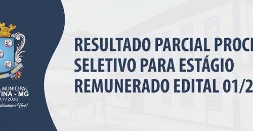 Ilustração da notícia: RESULTADO PARCIAL PROCESSO SELETIVO PARA ESTÁGIO REMUNERADO EDITAL 01/2018