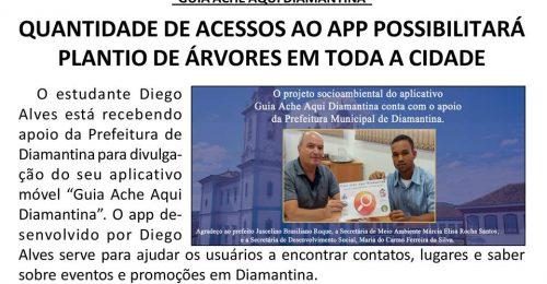 Ilustração da notícia: QUANTIDADE DE ACESSOS AO APP POSSIBILITARÁ PLANTIO DE ÁRVORES EM TODA A CIDADE