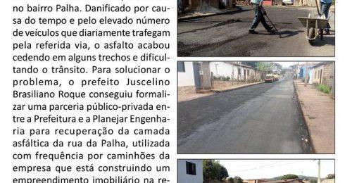 Ilustração da notícia: ASFALTO NA RUA DA PALHA POSSIBILITARÁ MAIS SEGURANÇA NO TRÁFEGO DE VEÍCULOS