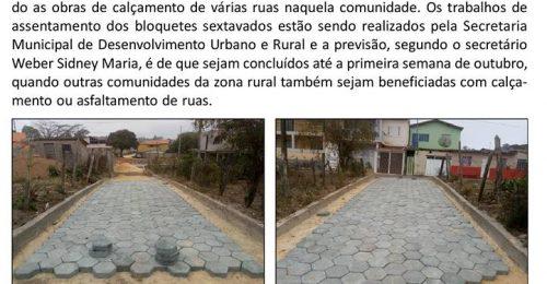 Ilustração da notícia: MORADORES DO DISTRITO DO GUINDA COMEMORAM CALÇAMENTO DE RUAS