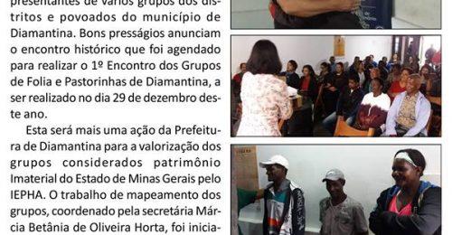 Ilustração da notícia: DIAMANTINA TERÁ EM DEZEMBRO ENCONTRO DOS GRUPOS DE FOLIA E PASTORINHAS