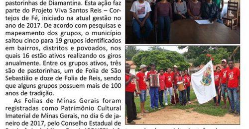 Ilustração da notícia: SECTUR PROMOVERÁ ENCONTRO COM REPRESENTANTES DOS GRUPOS DE FOLIAS E PASTORINHAS DE DIAMANTINA