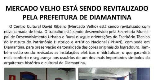 Ilustração da notícia: MERCADO VELHO ESTÁ SENDO REVITALIZANDO PELA PREFEITURA DE DIAMANTINA