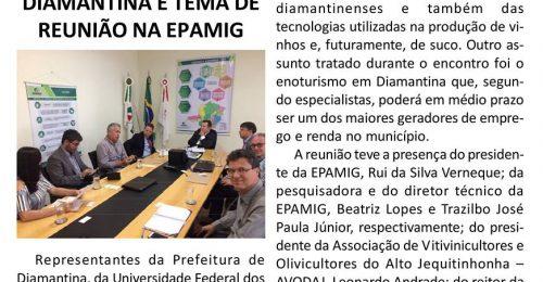 Ilustração da notícia: PRODUÇÃO DE VINHO EM DIAMANTINA É TEMA DE REUNIÃO NA EPAMIG