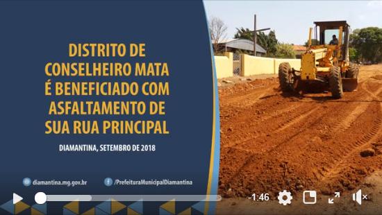 Ilustração da notícia: DISTRITO DE CONSELHEIRO MATA É BENEFICIADO COM ASFALTAMENTO DE SUA RUA PRINCIPAL