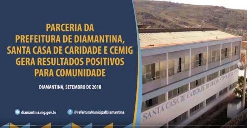 Ilustração da notícia: PARCERIA DA PREFEITURA DE DIAMANTINA, SANTA CASA DE CARIDADE E CEMIG GERA RESULTADOS POSITIVOS PARA A COMUNIDADE