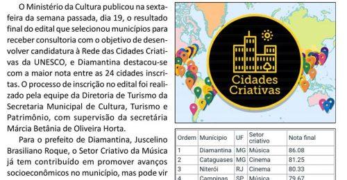 Ilustração da notícia: DIAMANTINA EM BUSCA DE MAIS UM IMPORTANTE RECONHECIMENTO MUNDIAL