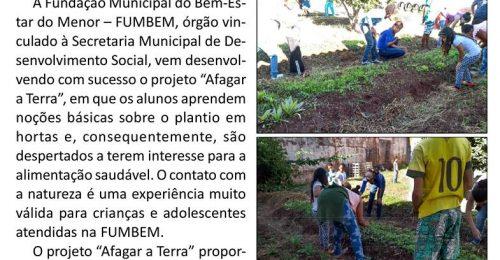 Ilustração da notícia: ALUNOS DA FUMBEM DE DIAMANTINA APRENDEM TÉCNICAS SOBRE O PLANTIO DE HORTALIÇAS