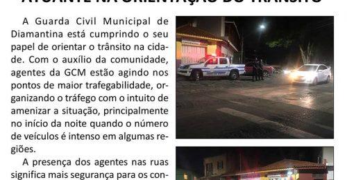 Ilustração da notícia: GUARDA CIVIL MUNICIPAL DE DIAMANTINA ATUANTE NA ORIENTAÇÃO DO TRÂNSITO