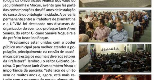 Ilustração da notícia: PARCERIA DA PREFEITURA DE DIAMANTINA E UFVJM É DESTACADA DURANTE SEMINÁRIO DE ODONTOLOGIA