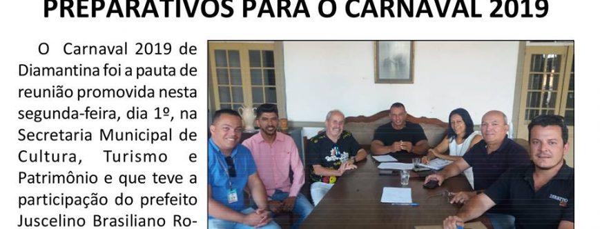 Ilustração da notícia: PREFEITURA DE DIAMANTINA AVANÇA NOS PREPARATIVOS PARA O CARNAVAL 2019