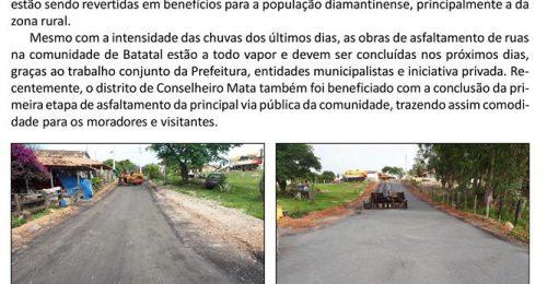 Ilustração da notícia: MESMO EM MOMENTO DE CRISE, PREFEITURA DE DIAMANTINA CONTINUA INVESTINDO EM OBRAS
