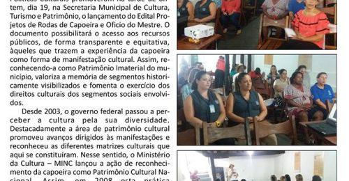 Ilustração da notícia: PREFEITURA DE DIAMANTINA LANÇA EDITAL PARA APOIAR PROJETOS DE RODAS DE CAPOEIRA