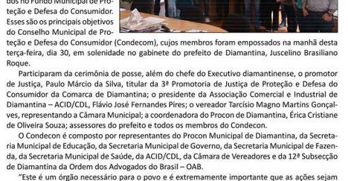 Ilustração da notícia: PREFEITO JUSCELINO ROQUE DÁ POSSE AOS MEMBROS DO CONSELHO DE PROTEÇÃO E DEFESA DO CONSUMIDOR