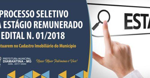 Ilustração da notícia: PROCESSO SELETIVO PARA ESTÁGIO REMUNERADO  EDITAL N. 01/2018