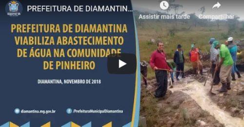 Ilustração da notícia: PREFEITURA DE DIAMANTINA VIABILIZA ABASTECIMENTO DE ÁGUA NA COMUNIDADE DE PINHEIRO