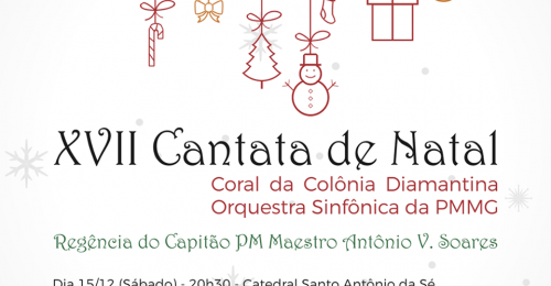 Ilustração da notícia: XVII CANTATA DE NATAL DIAS 15 E 16 DE DEZEMBRO DE 2018