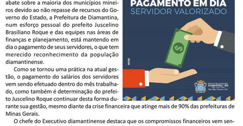 Ilustração da notícia: PREFEITURA DE DIAMANTINA DRIBLA A CRISE E MANTÉM O SALÁRIO DOS SERVIDORES EM DIA