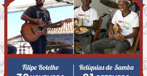 Ilustração da notícia: PROGRAMAÇÃO MUSICAL DO MERCADO VELHO 30 DE NOVEMBRO E 01 DE DEZEMBRO DE 2018