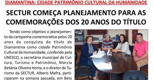 Ilustração da notícia: SECTUR COMEÇA PLANEJAMENTO PARA AS COMEMORAÇÕES DOS 20 ANOS DO TÍTULO