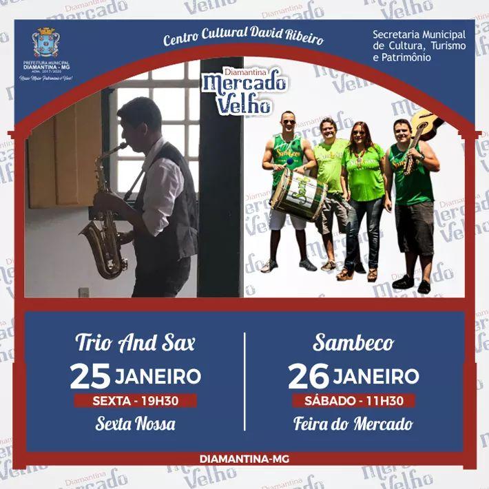 foto de PROGRAMAÇÃO MUSICAL DO MERCADO VELHO 25 E 26 DE JANEIRO