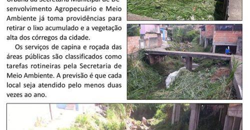 Ilustração da notícia: SECRETARIA DE MEIO AMBIENTE DE DIAMANTINA INICIA LIMPEZA DOS CÓRREGOS DE FORMA PREVENTIVA